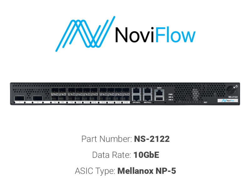 10GbE white box switch NoviFlow NS-2122