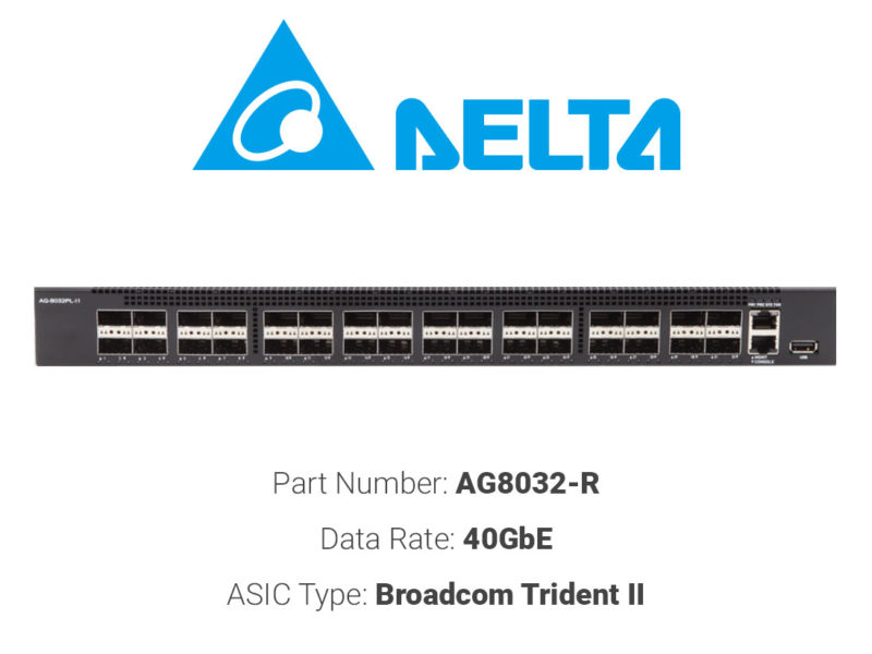 40GbE white box switch Delta Networks AG8032-R